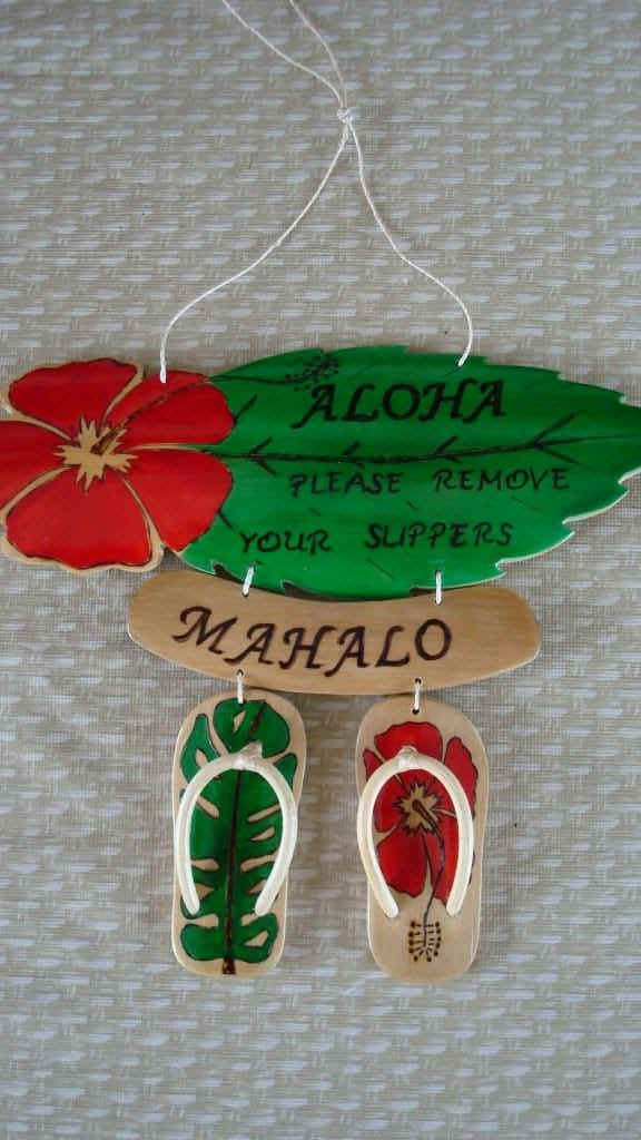 Hawaiian Hawn Wall And Door Plaques Quot Remove Your Shoes Quot