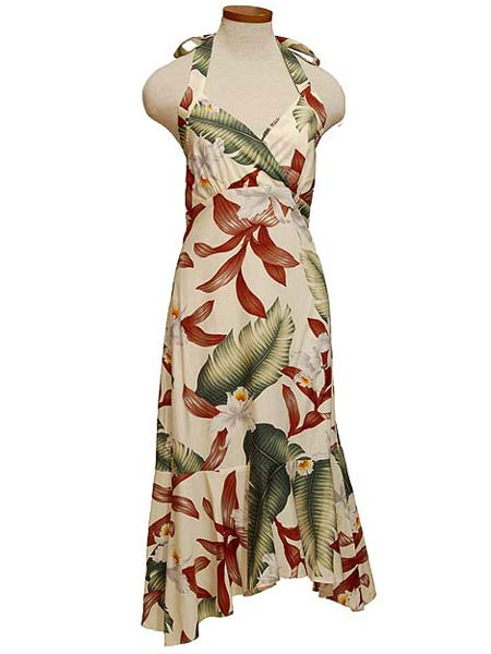 Hawaiian Island Dresses MDLSD halter flair dresses Light up the ...