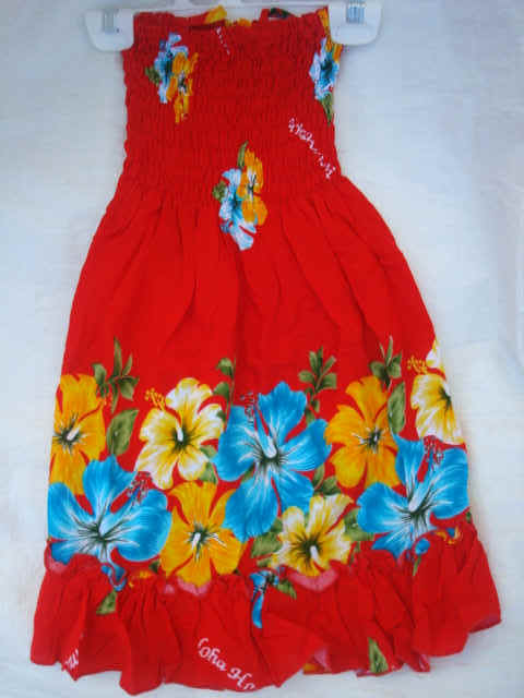 Busy Bees Hawaiian Dresses for keiki girls and junior girls|Sarong ...